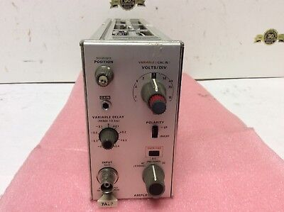 Tektronix 7A29 Amplifier Option 4 Variable Delay 7000 series Oscilloscope Plug-I