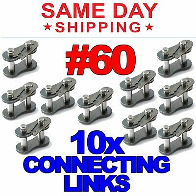 1x10ft of 40-2R NP Roller Chain Assembly Links Replacement New QJZ Nickel Plated