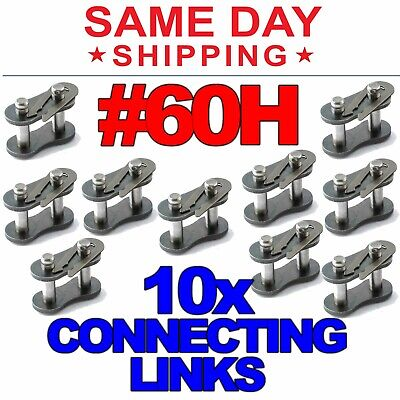 #60H Heavy Duty Roller Chain Connecting Links Lot of 5