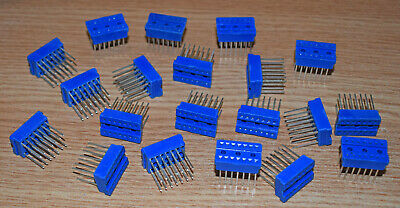 "14 Pin Ic Socket For Wirewrap 0.3"" Spacing Cambion - Tube Of 20 Pieces"