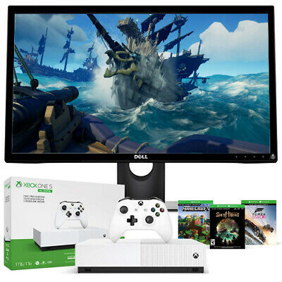 "Xbox One S 1TB All-Digital Edition + Dell 23.6"" LCD FHD 2 ms Gaming Monitor"