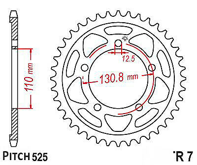 Hendler Rear Sprocket 45 Teeth (007-45) Ducati Monster 696 ABS 2013