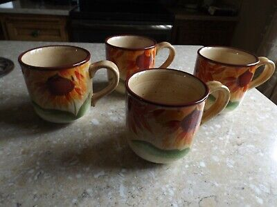 "Pfaltzgraff Evening Sun Lot of Four Large Coffee Mugs or Cups 4 1/2"" x 4"""