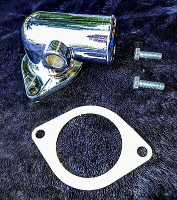 Chrome Water Neck Thermostat T-stat Housing Ford 352 390 427 428 FE Big Block
