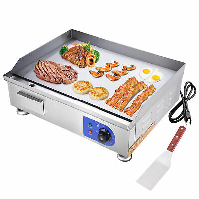 "2500W 24"" Commercial Electric Countertop Griddle Flat Top Grill Hot Plate BBQ"