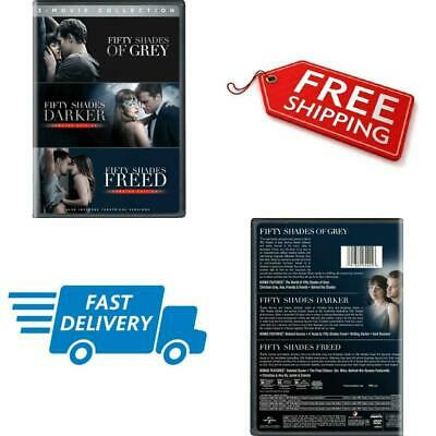 Fifty Shades Of Grey Trilogy DVD 3-Movie Collection Box Set Color Widescreen New