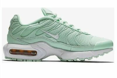 Nike Air Max Plus Youth GS Running Shoes Igloo Green White SZ 6Y ( 718071 300 )