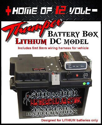 LIthium Battery Box Camping DC charger IDC25L Thumper 2x Cigarette + Merit + USB