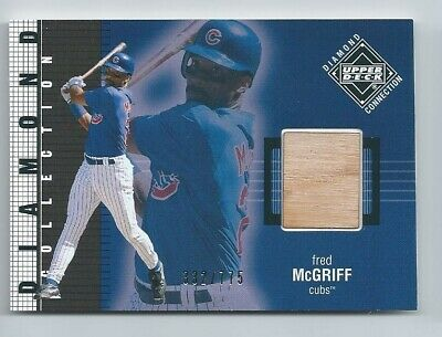 2002 Upper Deck Diamond Collection Game Used Bat - Fred McGriff (Chicago Cubs)