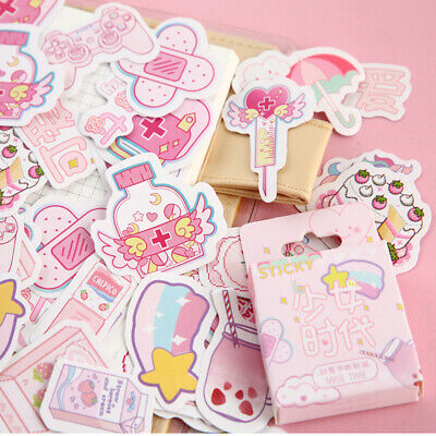 46PCS/Box Cute Stickers Kawaii Stationery DIY Scrapbooking Diary Label Stickers