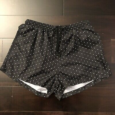 4d540a73ee MENS ZARA MAN Black White Polka Dot Swim Trunks Shorts Size L ...