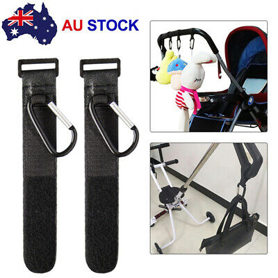 2PCS PRAM HOOK Baby Stroller Hooks Shopping Bag Clip Heavy duty Hanger Hooks AU