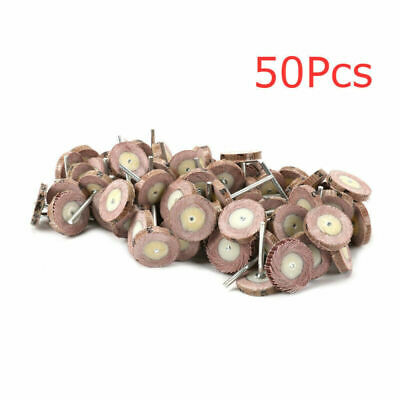 50x Sandpaper Grinding Mounted Point Flap Wheel Rotary Tools 120#~320#25x5x3mm