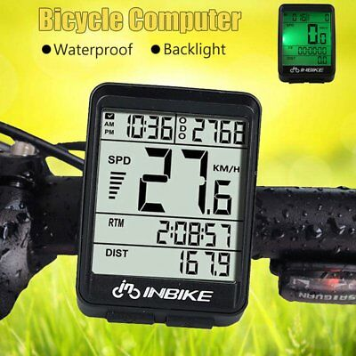 Wire/Wireless Cycling Waterproof Bike Computer LED Speedometer Odometer On