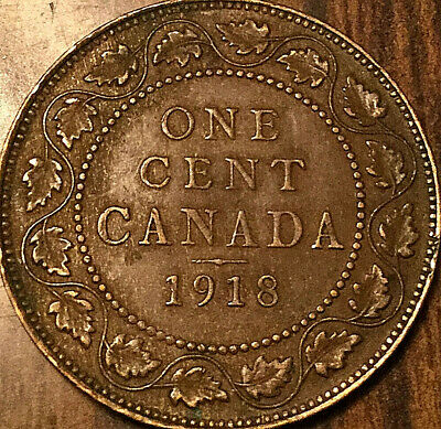 1918 CANADA LARGE CENT PENNY - Excellent example!