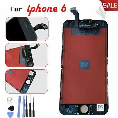 For iPhone 6 Black LCD Lens Touch Screen Digitier Display Replacement Hi-Q