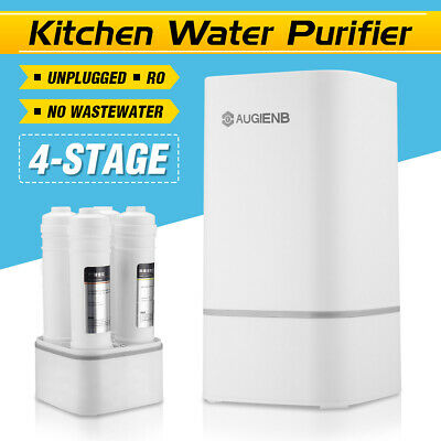 AUGIENB 4 Stages Faucet Water Filter System Purifier with Valve Water Pipe Home