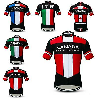 2019 Cycling Team Jersey Shirt Men's Short Sleeve Bike Cycle Jersey Top S-5XL