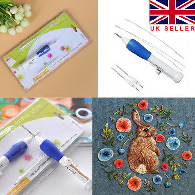 UK Agile Embroidery Pen Clothing Punch Needle Funny Weaving Tool 1.3/1.6/2.2mm