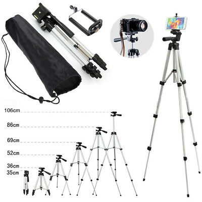 Camera Professional Tripod Stand Holder Mount for iPhone Samsung Cell Phone +Bag