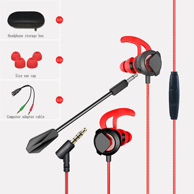Wired In Ear Earphone Gaming Super Bass Headphone Sport Headset Earbud With Mic
