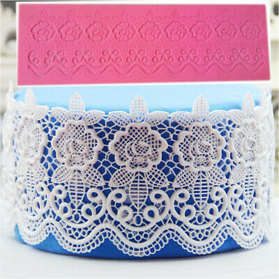 Lace Silicone Mold Sugar Craft Fondant Mould Mat Cake Decorating Baking Tool for