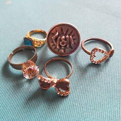 collection of antique old rings changable and not changable sizes nice for women