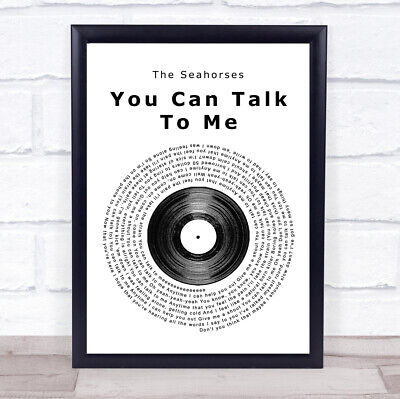 You Can Talk To Me Vinyl Record Song Lyric Music Gift Present Poster Print