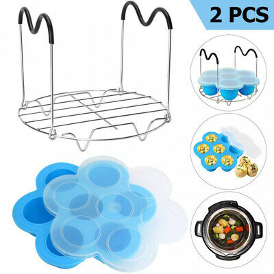 LUXOTON Silicone Egg Bites Molds and Steamer Rack Trivet with Heat Resistant...