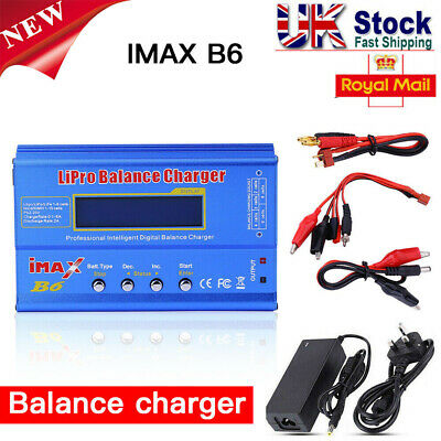 iMAX B6 AC Lipo NiMH Polymer RC Battery Balance Charger LCD Digital UK Plug