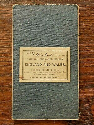 1880 1st Series Ordnance Survey OS Map Windsor Berks Surrey Archaeology Heathrow