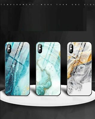 iPhone XS Max XR 8 7 6S Plus Case Shockproof Tough GLASS Marble Cover For Apple