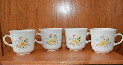 Corelle Corningware 4 Spring Meadow Floral Wildflower Coffee Tea Mug Cup ~ NEW