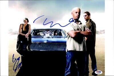 The Fast and The Furious cast signed 10x15 photo w/PSA Cert Autograph 2616P1