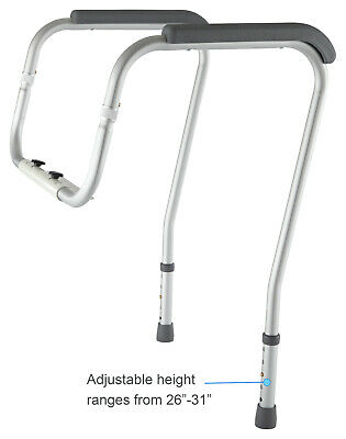 Vive LVA1010 Toilet Rail Bathroom Safety Frame for Elderly,Handicap,Disabled