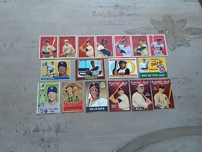 RP Lot - Babe Ruth Willie Mays Ty Cobb Roberto Clemente Mickey Mantle Lou Gehrig
