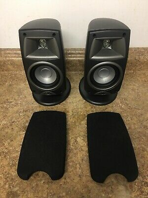 PAIR OF BLACK Klipsch Quintet SL Home Theatre Speakers FAST FREE SHIPPING
