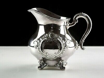 Reed & Barton Regent Hand Chased Water Pitcher Vintage Silver Plate Ornate 5600C