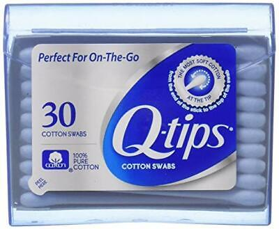 NEW and Sealed Q-tips Cotton Swabs 30 Count On-The-Go Travel Size Purse Pack
