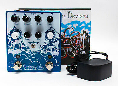 EarthQuaker Devices Avalanche Run V2 Stereo Delay & Reverb‎ Guitar Effect Pedal