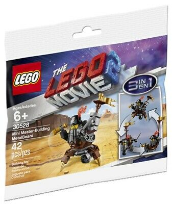 Lego The Lego Movie 2 Mini Master-Building MetalBeard Polybag (30528) New
