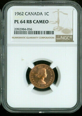 1962 Canada 1 Cent Ngc Pl64 Rb Cameo Deal