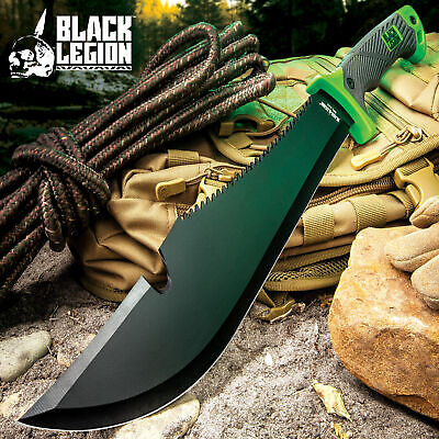 """21"""" SURVIVAL HUNTING Bowie Military FULL TANG MACHETE Fixed Blade Knife SWORD"""