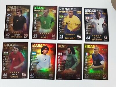 Match Attax 101 2018/19 18/19 FULL SET OF ALL 8 LEGENDS - MINT Condition