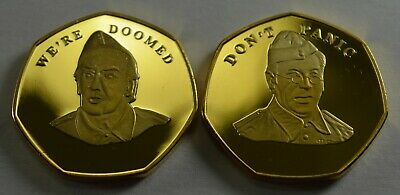 2 x BREXIT Commemoratives 'WE'RE DOOMED' & 'DON'T PANIC' Dads Army, Frazer Jones
