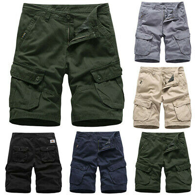 Mens Cargo Shorts Pants Army Camo Combat Tactical Military Walk Camping Trousers