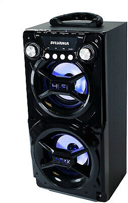 Portable Bluetooth Speaker System Big Led Stereo Light Up Tailgate Loud Wireless