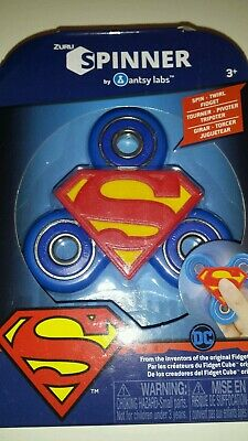Zuru DC SUPERMAN Fidget Spinner Brand New In Package Free Shipping Ages 3 /& Up