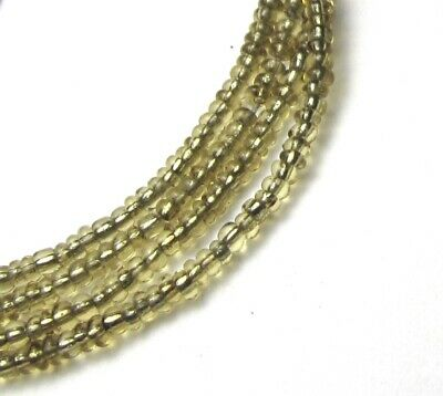 """30"""" Strand Of Beautiful Old Tiny Translucent Gold Antique Glass Beads"""