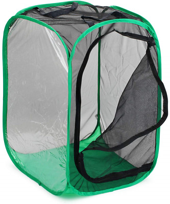 """RESTCLOUD 36"""" Large Monarch Butterfly Habitat, Giant Collapsible Insect Mesh 24"""